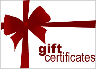 Gift Certificate with red ribbon